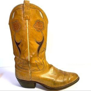 98e61d0aeef Ralph Lauren Tooled Inlay Cowboy Western Boots